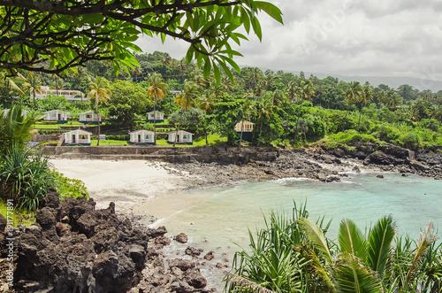 Obraz Beatiful bay in Moroni, Comoros - fototapety do salonu