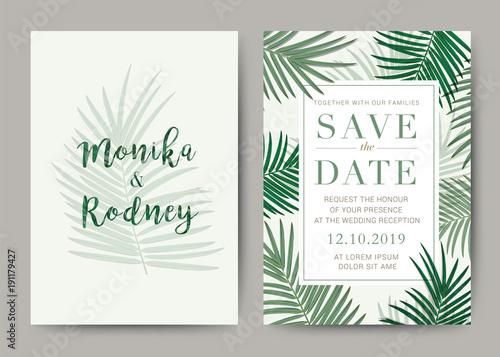 Set Of Wedding Card Template Background For Invitation Menu Rave