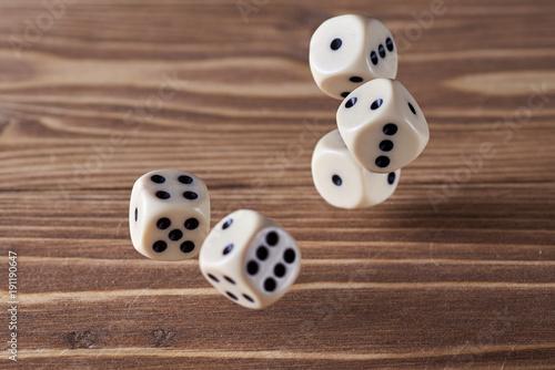 dice are thrown плакат