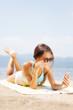 girl taking selfie on a beach