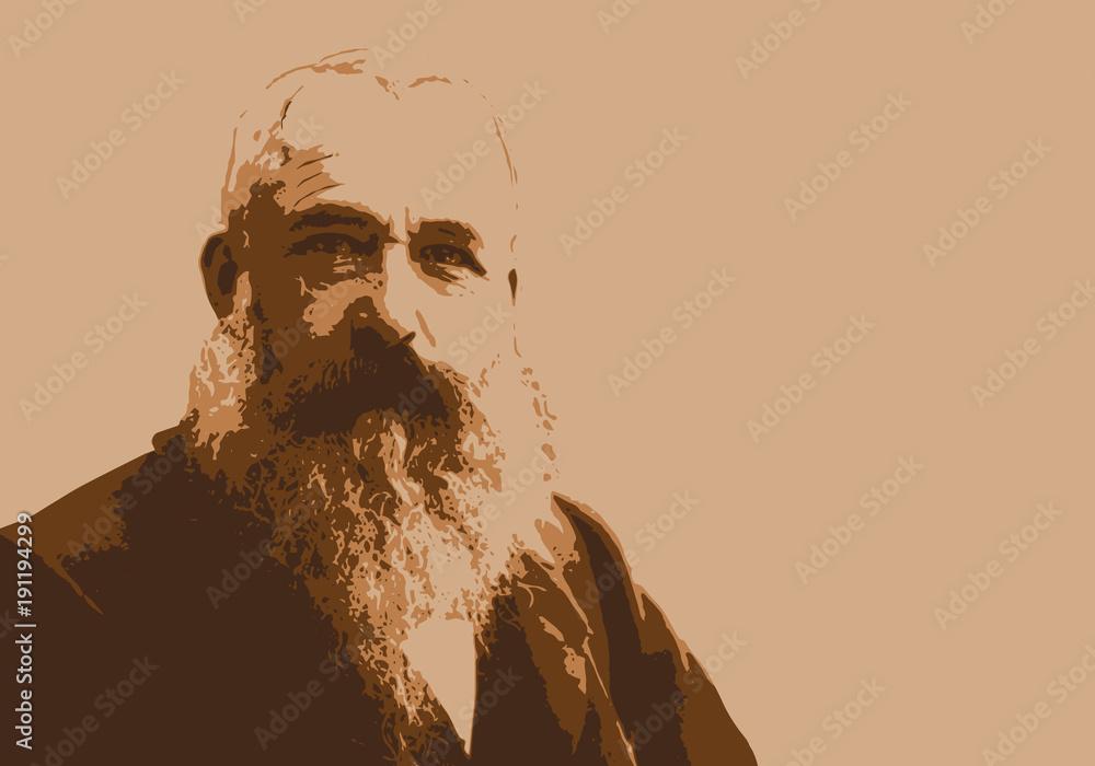 Fototapeta Monet - peintre - portrait - personnage historique - Claude Monet - artiste peintre