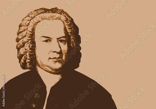 Cuadros en Lienzo Bach - musicien - portrait - personnage historique -musique - personnage célèbre