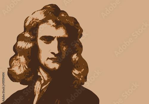 Obraz na plátně Newton - savant - portrait - personnage historique - astronome - mathématicien -