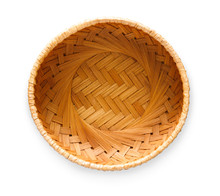 Wicker Basket Isolated On Whit...
