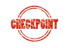 Checkpoint Red Vintage Rubber ...