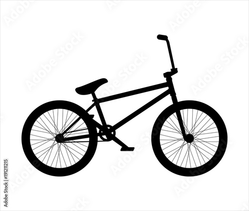 BMX bike silhouette Wallpaper Mural