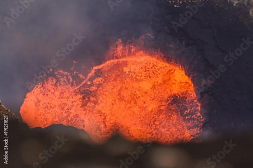 Lawa lake in Crater Marum, Ambrym island volcanic caldera, Malampa