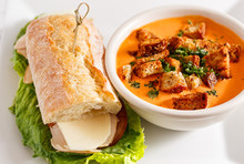 Cream Of Tomato Soup With Sandwich