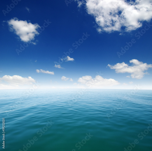 Fotobehang Zee / Oceaan Blue sea water surface