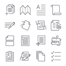 Simple Set Of Document Icons. ...