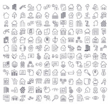 A Large Set Of Icons On The To...