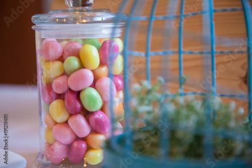 Fotografie, Obraz  Bar à bonbon lors d'une mariage