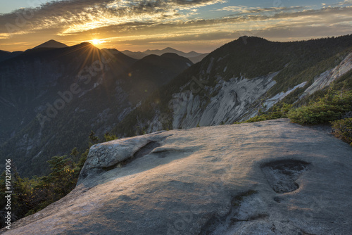 Sunset over Pyramid Peak in the Adirondack Mountains Wallpaper Mural