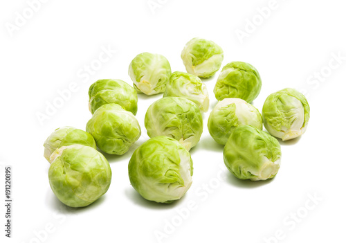 Foto op Canvas Brussel brussels sprouts isolated