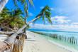 Tropical white sand beach in Boracay, Philippines