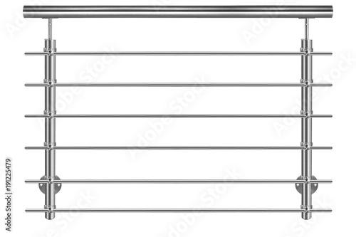 Treppengeländer  Edelstahl Produktfoto auf weißem Hintergrund Fototapet
