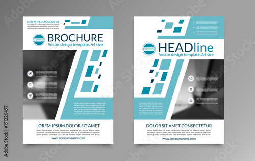 Business Brochure Layout Template Front And Back Page In A4 Size