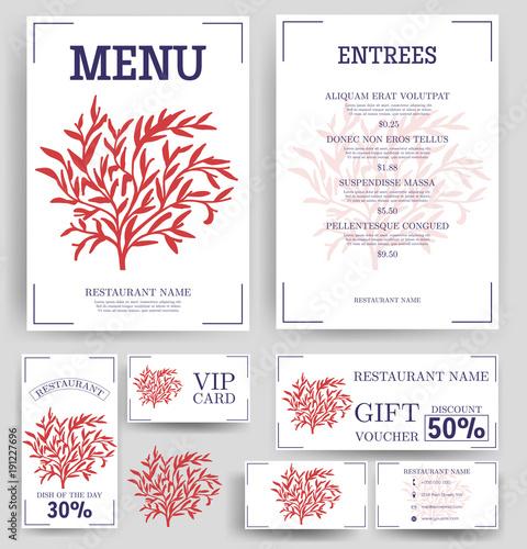 vector restaurant brochure menu design vector cafe menu template