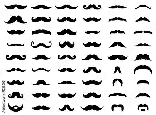 Mustache icon collection Canvas Print