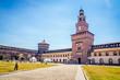 The Sforza Castle - Castello Sforzesco in Milan, Italy