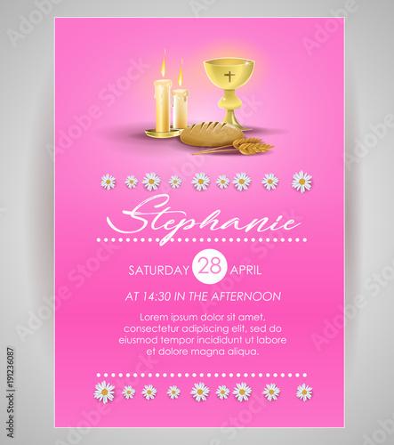 Pink religious invitation card buy this stock vector and explore pink religious invitation card stopboris Images