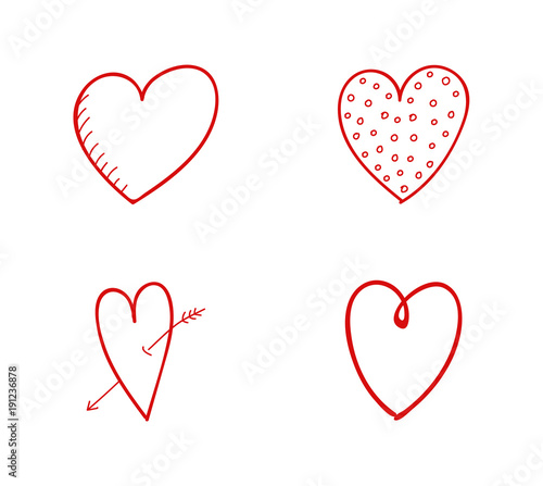 Concept Of Heart Doodles Set With Icons Vector Buy This Stock Vector And Explore Similar Vectors At Adobe Stock Adobe Stock