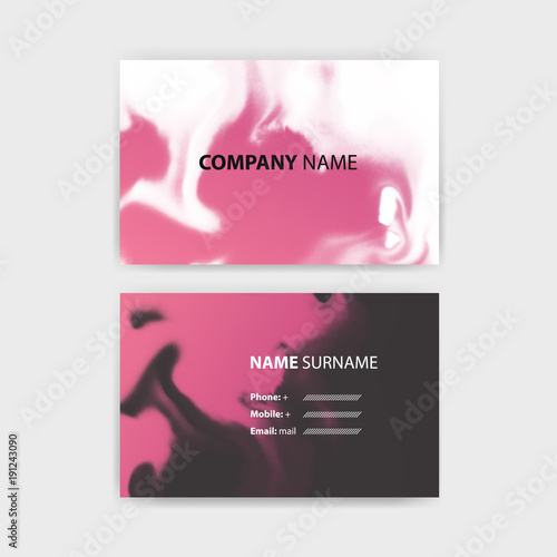 Business card template with ink background design horizontal business card template with ink background design horizontal template layout in rectangle size reheart Choice Image