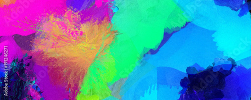 Obraz Colorful Brush Strokes - fototapety do salonu