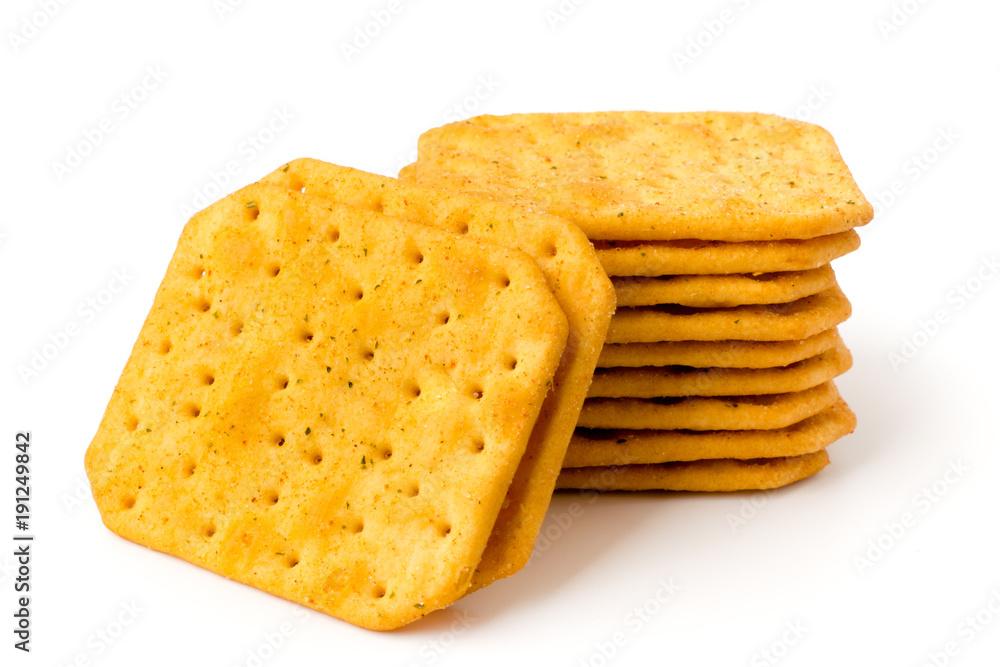 Fototapeta Cookie cracker on a white