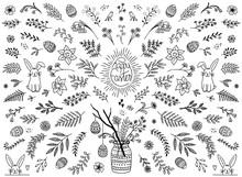 Hand Sketched Floral Design El...