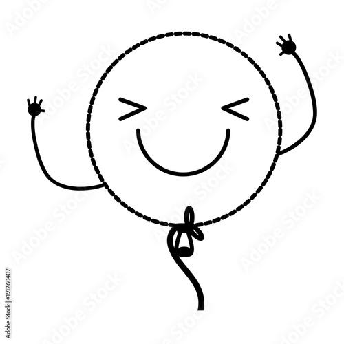 Spoed Foto op Canvas Cartoon draw kawaii balloon icon
