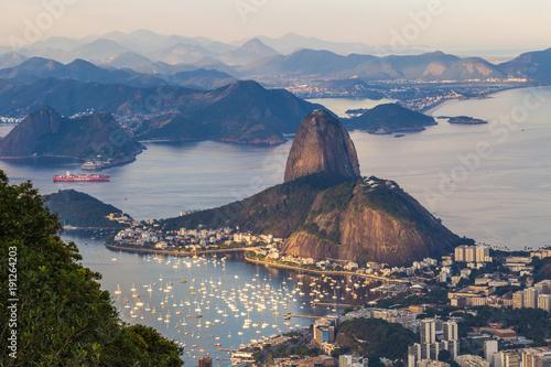 Rio de Janeiro - June 20, 2017: Panorama of Rio de Janeiro seen from Corcovado m Wallpaper Mural