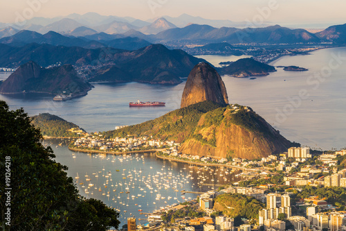 Photo  Rio de Janeiro - June 20, 2017: Panorama of Rio de Janeiro seen from Corcovado m