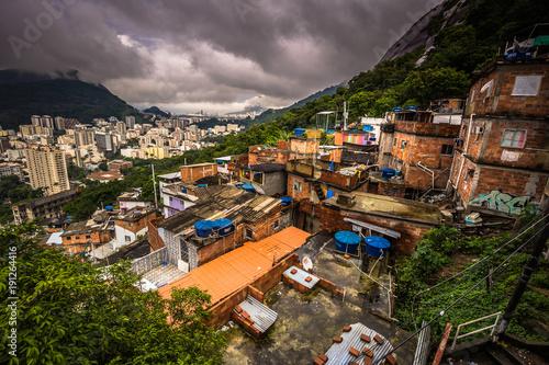 Photo  Rio de Janeiro - June 21, 2017: Rooftops of the Favela of Santa Marta in Rio de