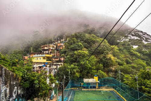 Rio de Janeiro - June 21, 2017: Houses of the Favela of Santa Marta in Rio de Ja Canvas Print