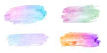 Various Watercolor Design Elem...