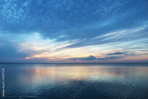 Fototapeta Early sunset oceanscapae off South Padre Island Texas