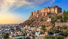 Mehrangarh Fort At Sunset With...