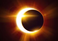 Partial Solar Eclipse. Natural...