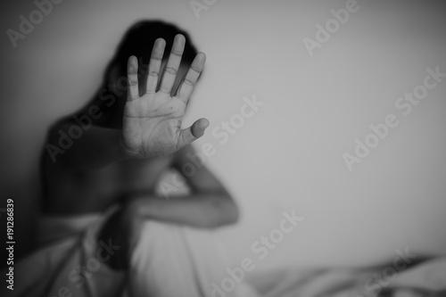 Fényképezés  Stop violence against women , concept photo of Sexual assault , Woman violence concept