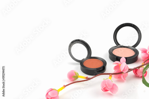 Pink And Orange Blush Decorated With Fake Pink Flower Branches On