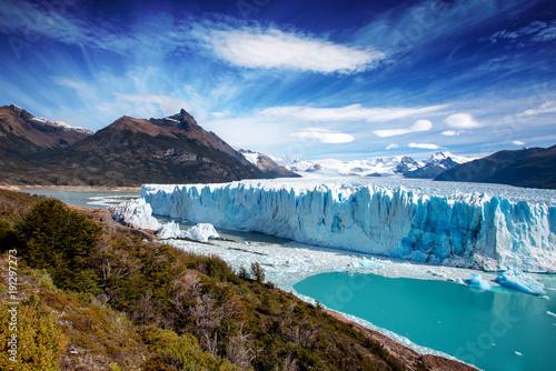 Valokuva  The Perito Moreno glacier in Glaciares National Park outside El Calafate, Argent