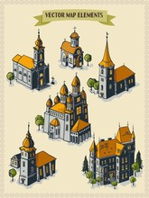 Vector Map Elements, Colorful,...