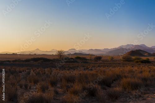 Poster de jardin Desert de sable Sunset at Overhang Rock