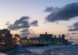 Sunset in the famous malecon in Havana, Cuba