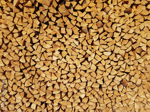 Photo Stands Firewood texture Cut Firewood as Background