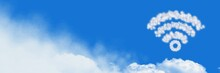 Wifi Cloud Icon With Sky