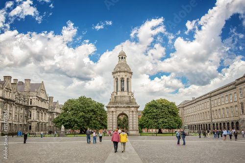 Old bell tower at Trinity College in Dublin, Ireland Canvas Print