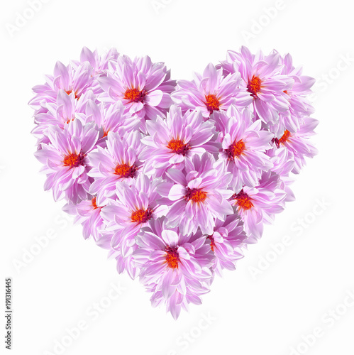 Poster Surrealism Heart Pink Flowers