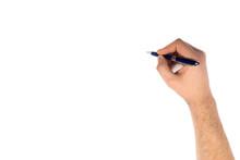 Man Hand Write Something